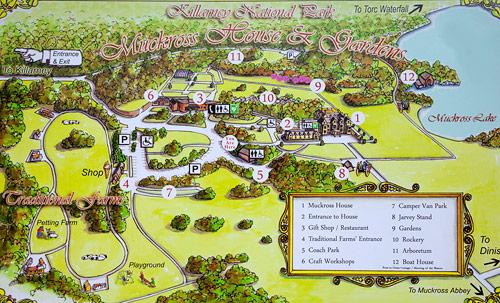 muckross gardens map