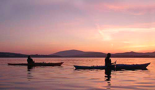 kayaking on dingle bay