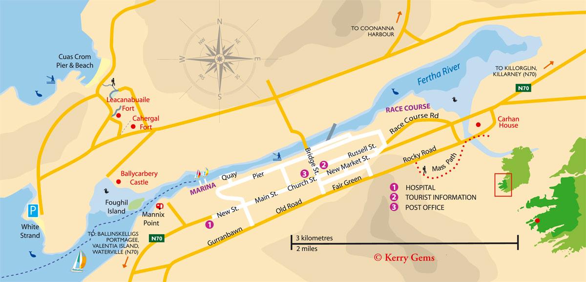 cahersiveen-town-map