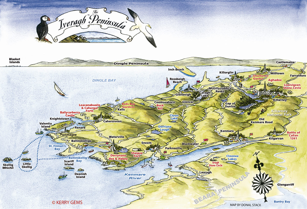 Ring Of Kerry Map Kerry Gems Ring of Kerry Maps   Kerry Gems Ring Of Kerry Map