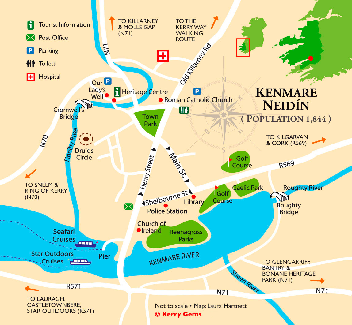kenmare-town-map