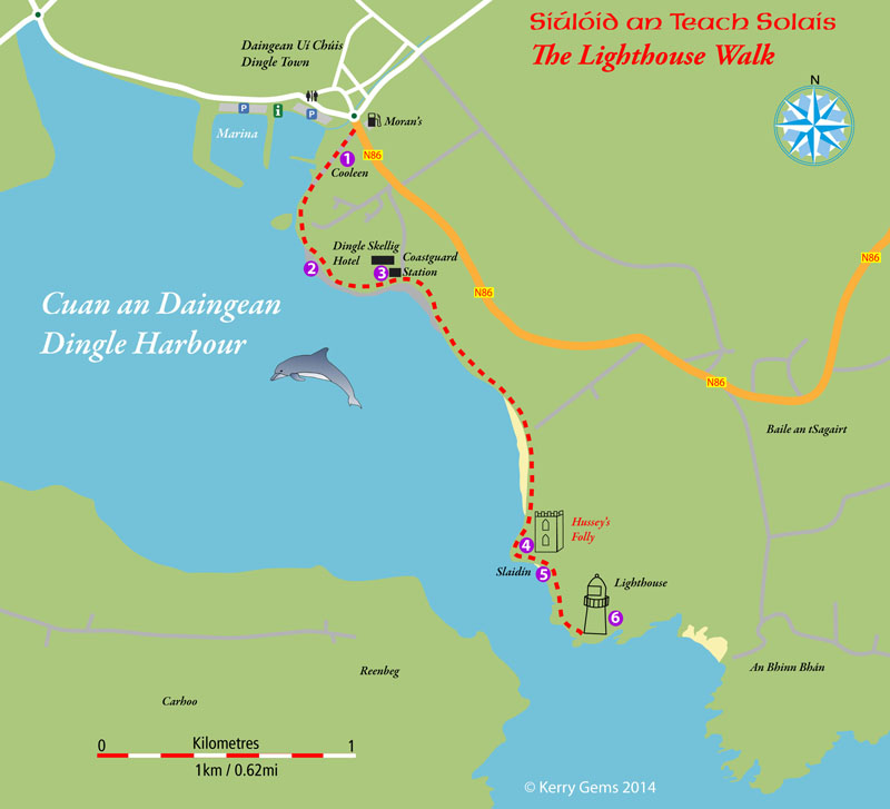 Lighthouses In Ireland Map.Kerry Gems Lighthouse Walk Kerry Gems